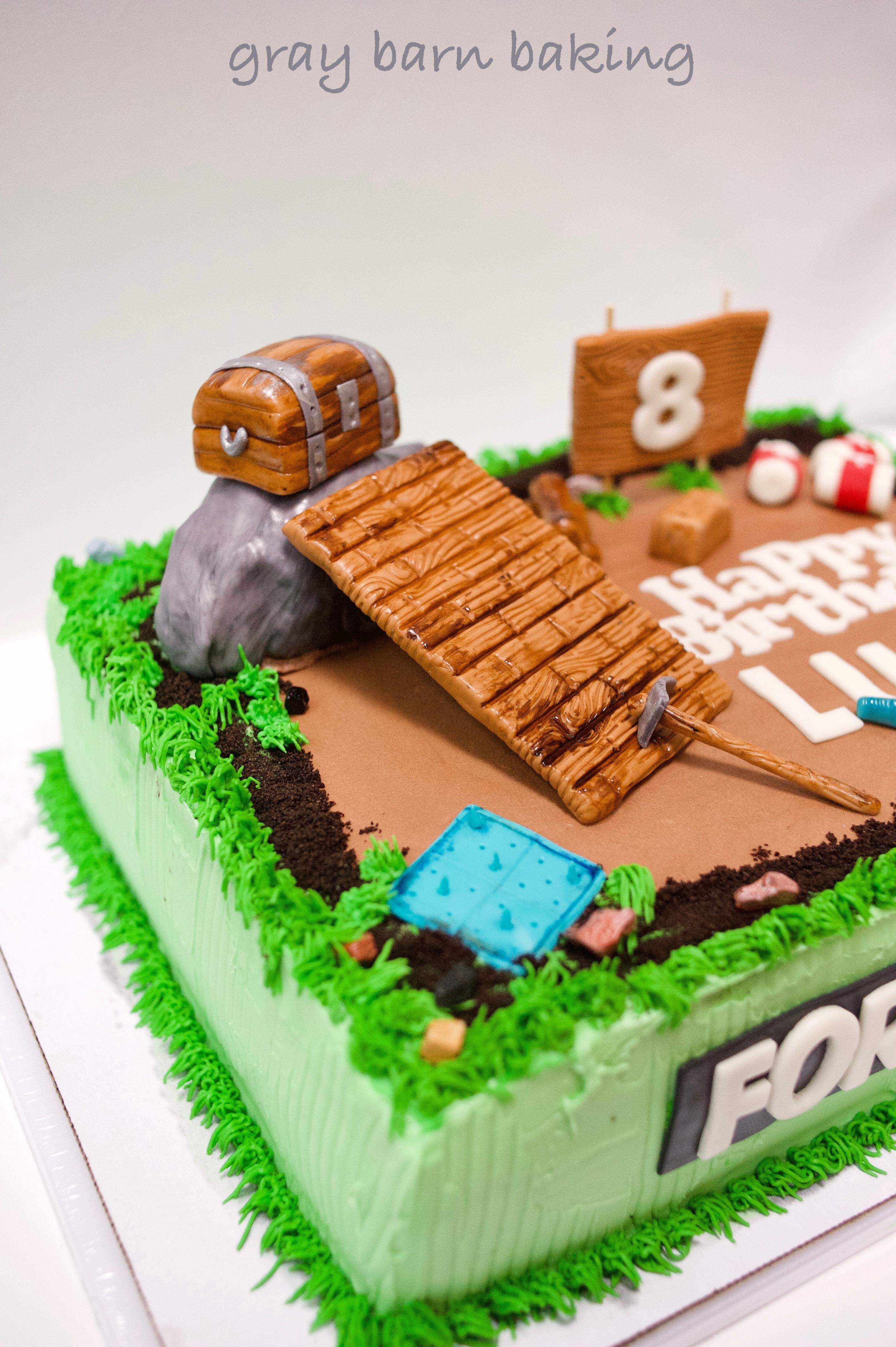 Fortnite Gamer Cake 2 Gray Barn Baking