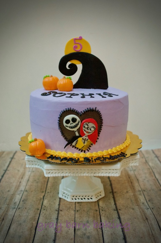 Groovy Nightmare Before Christmas Cake Gray Barn Baking Personalised Birthday Cards Paralily Jamesorg