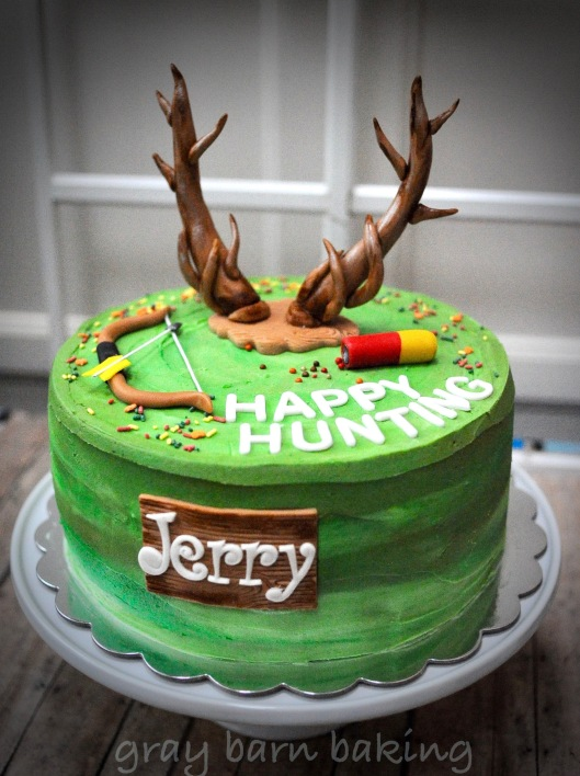 Outstanding Hunting Cake Gray Barn Baking Funny Birthday Cards Online Elaedamsfinfo